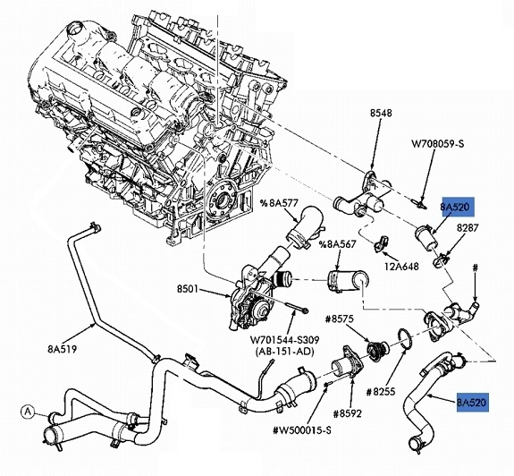 New Oem Upper Radiator Hose Tube Ford Taurus Mercury In Ford Taurus Engine Diagram further Relay together with D Ccb together with Ford Taurus Se Pic X additionally Hqdefault. on 2003 ford taurus coolant sensor location