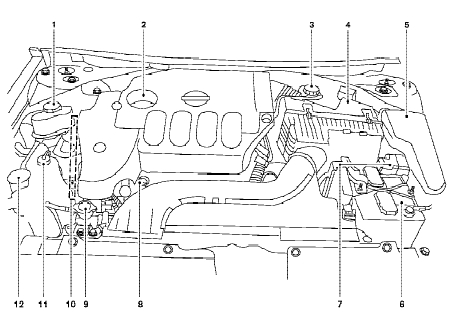 Nissan Altima Qr25De Engine Compartment Diagram in 2003 Nissan Altima Engine Diagram