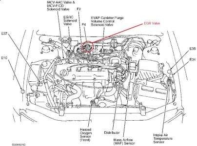 2001    Nissan       Altima       Engine       Diagram      Automotive Parts    Diagram    Images