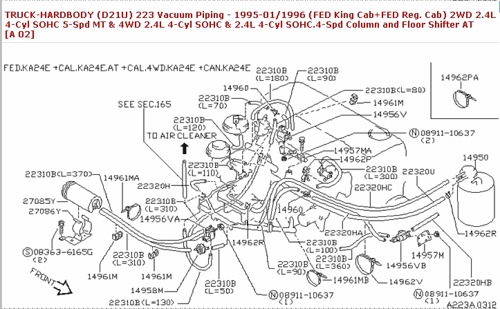 1997 Nissan Pickup Engine Diagram | Automotive Parts ...