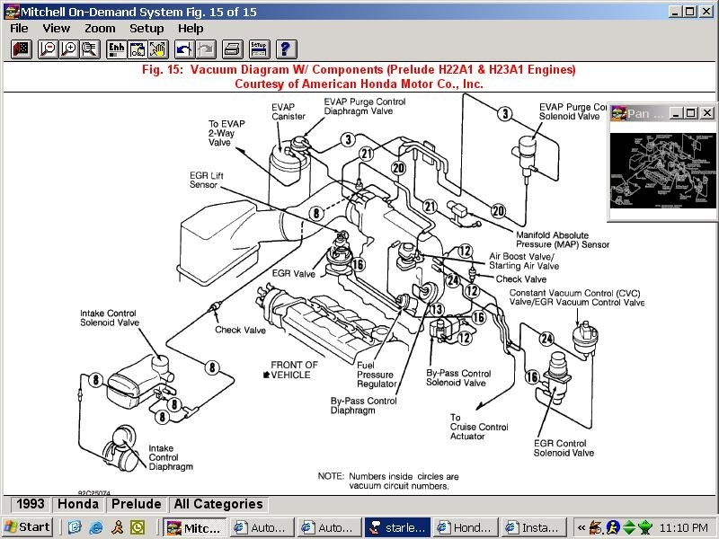 Obd2 96-97 Honda Accord To Jdm Obd1 H22A Dohc Vtec Engine Motor with 1993 Honda Accord Engine Diagram