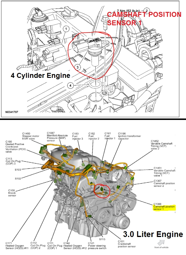 P0366 2006 Ford Fusion Camshaft Position Sensor 'b' Circuit Range regarding 2010 Ford Fusion Engine Diagram