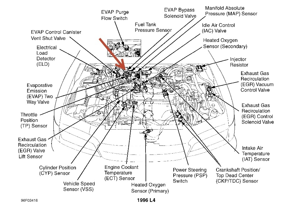 2004 honda civic engine diagram
