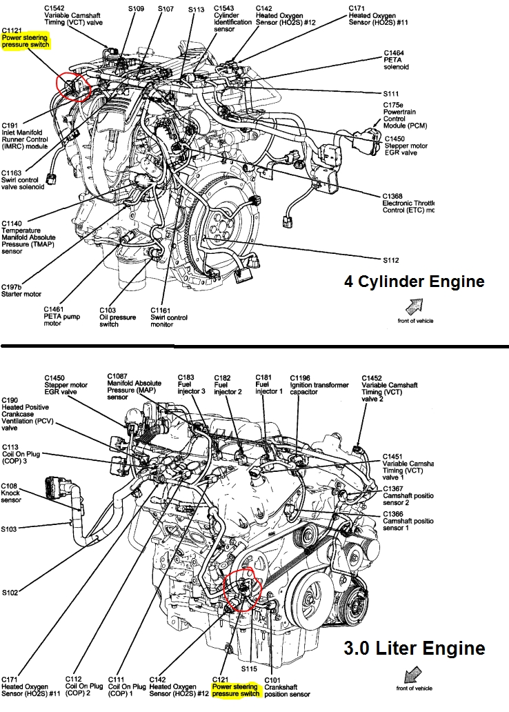 P0553 2010 Ford Fusion Power Steering Pressure Sensor Circuit High within 2010 Ford Fusion Engine Diagram