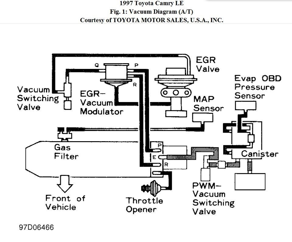 P1310 And P300: I Have A 1997 Toyota Camry, 4 Cyl. I Am Getting within 1997 Toyota Camry Engine Diagram