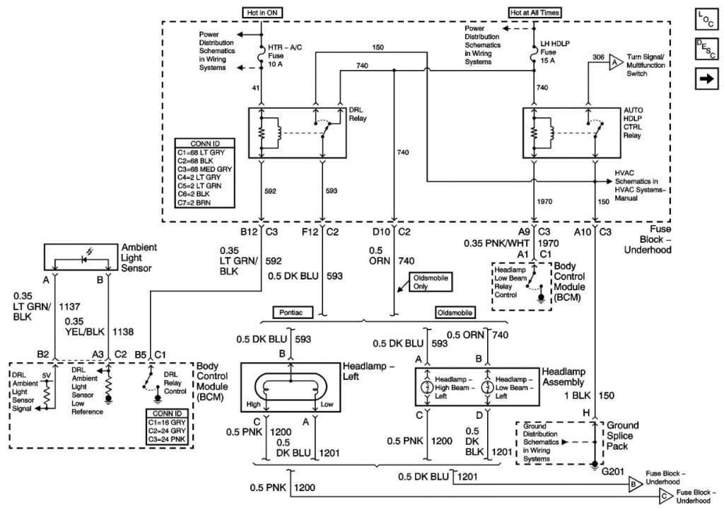 2003 pontiac bonneville factory wire harness diagram   52
