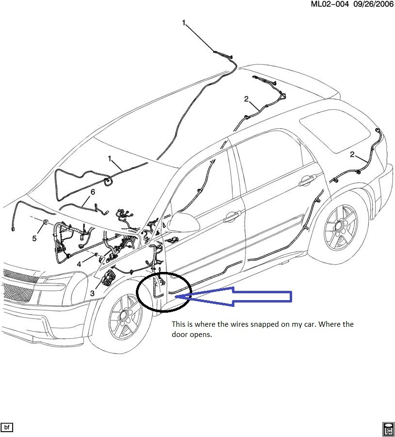 2006 Pontiac Torrent Driver Door Wiring Harness on 2004 Pontiac Aztek Wiring Diagram