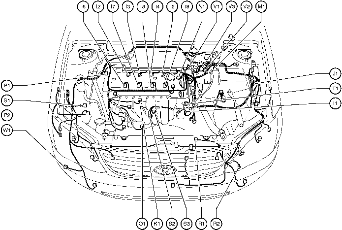 Position Of Parts In Engine Compartment - Toyota Corolla 2004 Wiring in 2001 Toyota Corolla Engine Diagram
