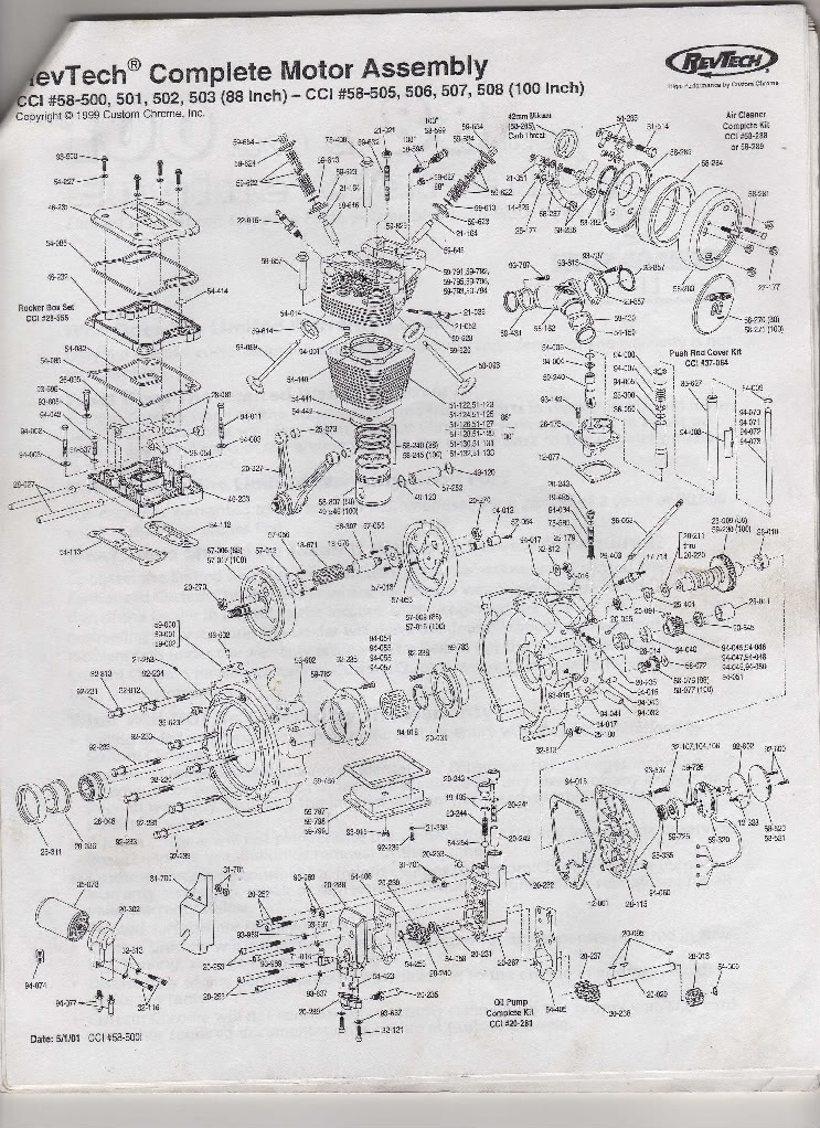 Revtech Engine Identification? : V-Twin Forum: Harley Davidson Forums with Harley Twin Cam Engine Diagram