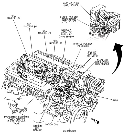 5.7 liter chevy engine diagram | automotive parts diagram ... gm 350 engine diagram 350 engine diagram #6