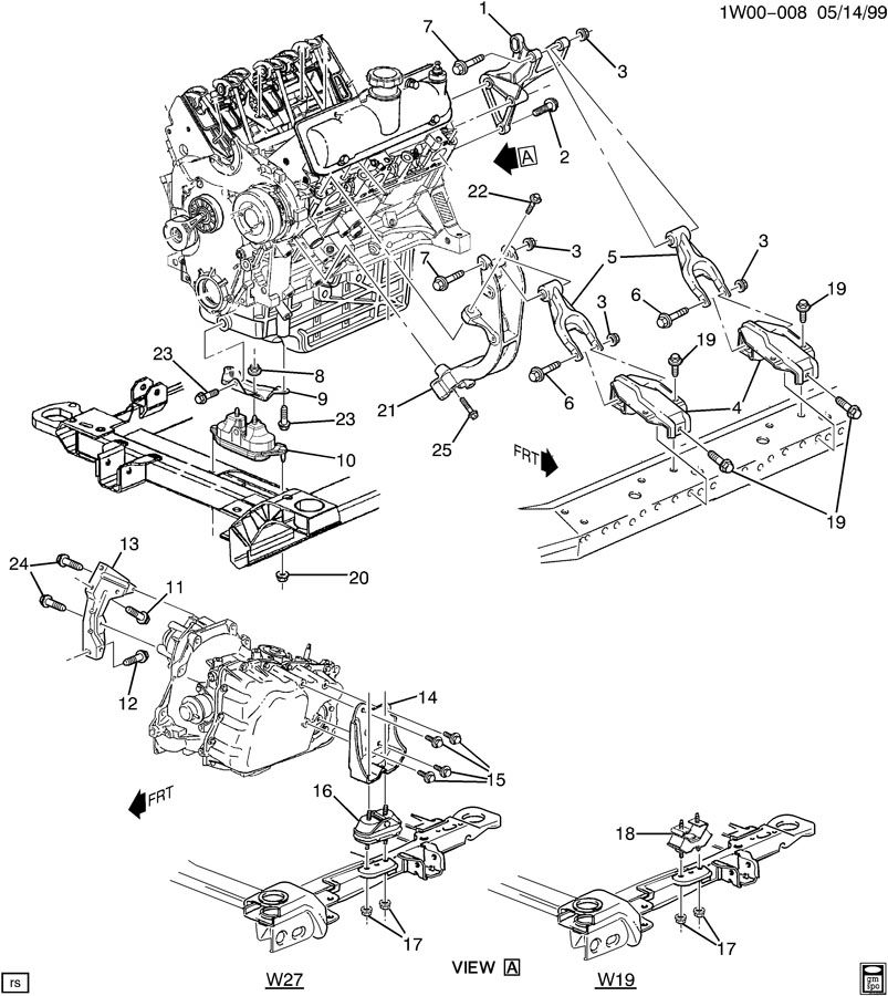 2002 Chevy Impala 3 4 Engine Diagram