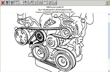 Solved: Need A Diagram For A 99 Toyota Corolla Serpentine - Fixya pertaining to 1999 Toyota Corolla Engine Diagram