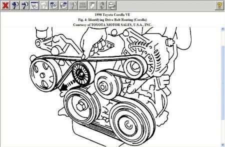 Solved: Need Toyota Corolla 2002 Serpentine Belt Diagram - Fixya with 2002 Toyota Corolla Engine Diagram