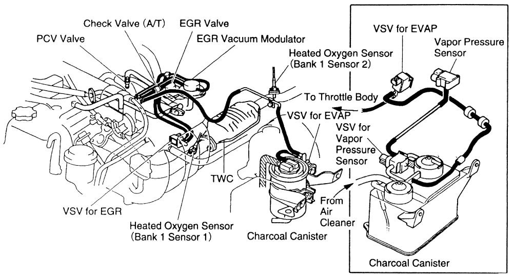 Toyota T100 Questions - Where Can I Find A Schematics Drawing Of intended for 1996 Toyota Corolla Engine Diagram