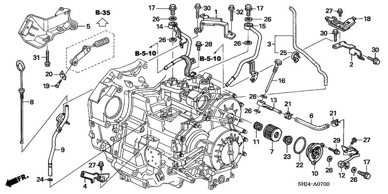 Transmission Filter.. regarding 2006 Honda Odyssey Engine Diagram