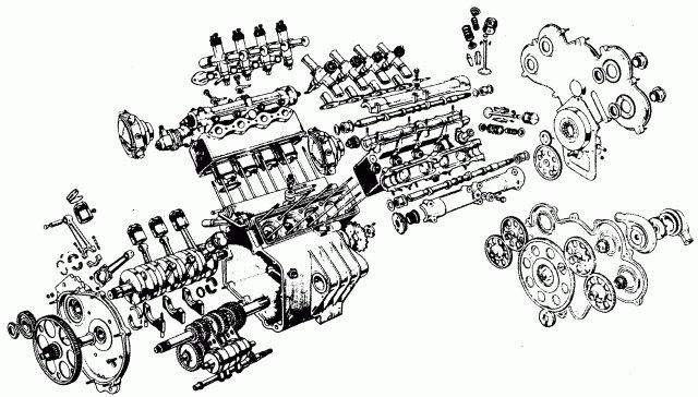 diagram of a v8 engine
