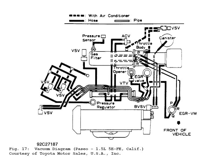 1983 Toyota Tercel Engine Diagram