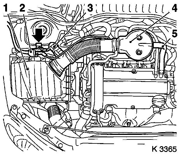 Vauxhall Workshop Manuals > Corsa C > J Engine And Engine within Vauxhall Corsa 1.2 Engine Diagram