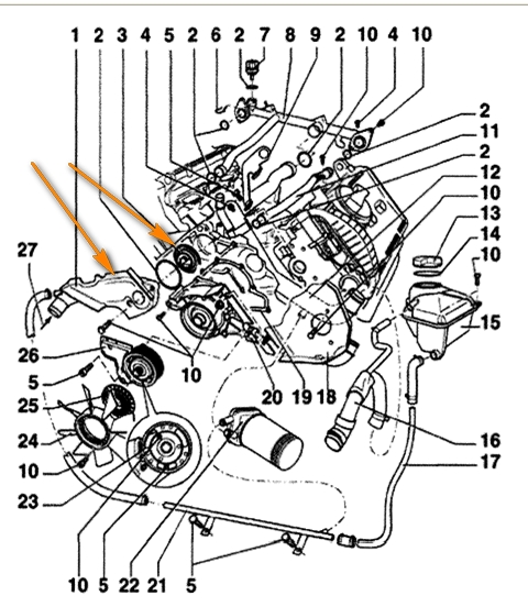2001    Vw Beetle       Engine       Diagram      Automotive Parts    Diagram