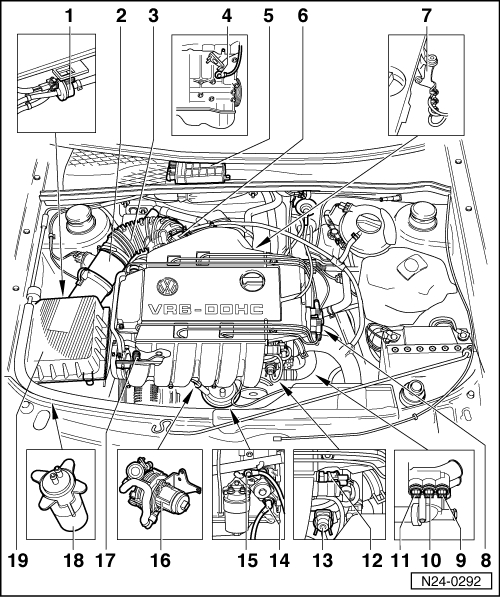 1999 vw beetle engine diagram