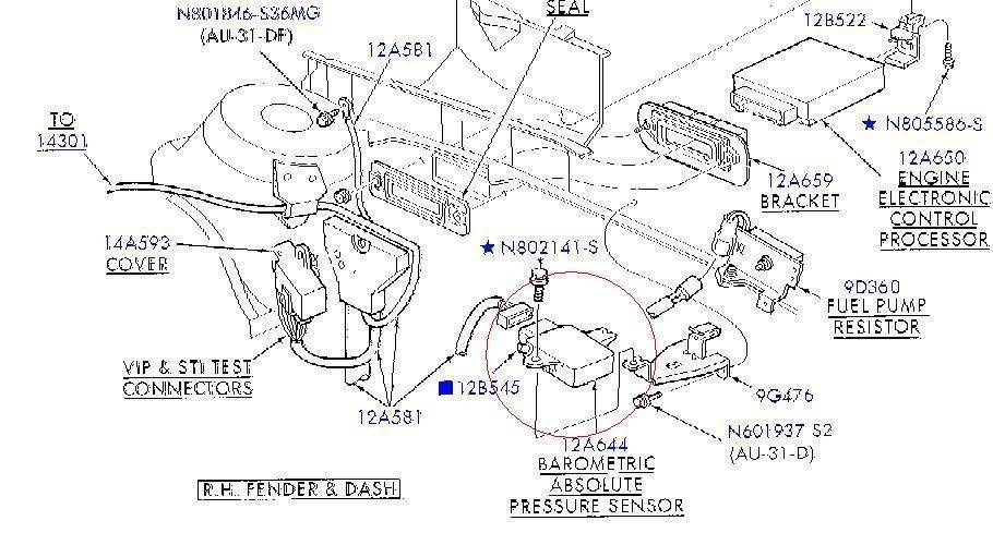 Where Is My Map Sensor? - Taurus Car Club Of America : Ford Taurus within 2001 Mercury Sable Engine Diagram