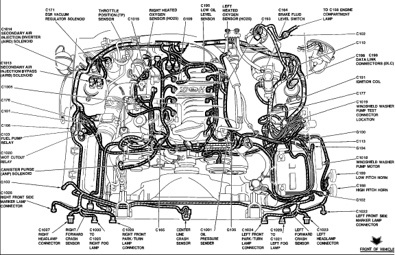 2003 ford mustang engine diagram