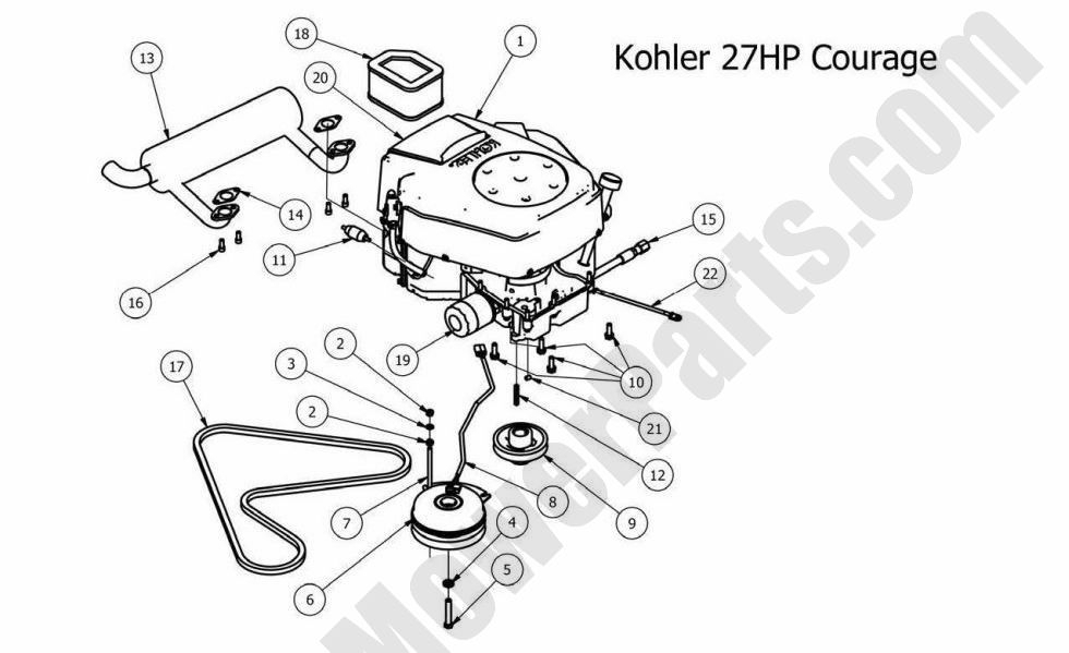 Wiring Diagram For 16 Hp Kohler Engine – The Wiring Diagram intended for 20 Hp Kohler Engine Diagram