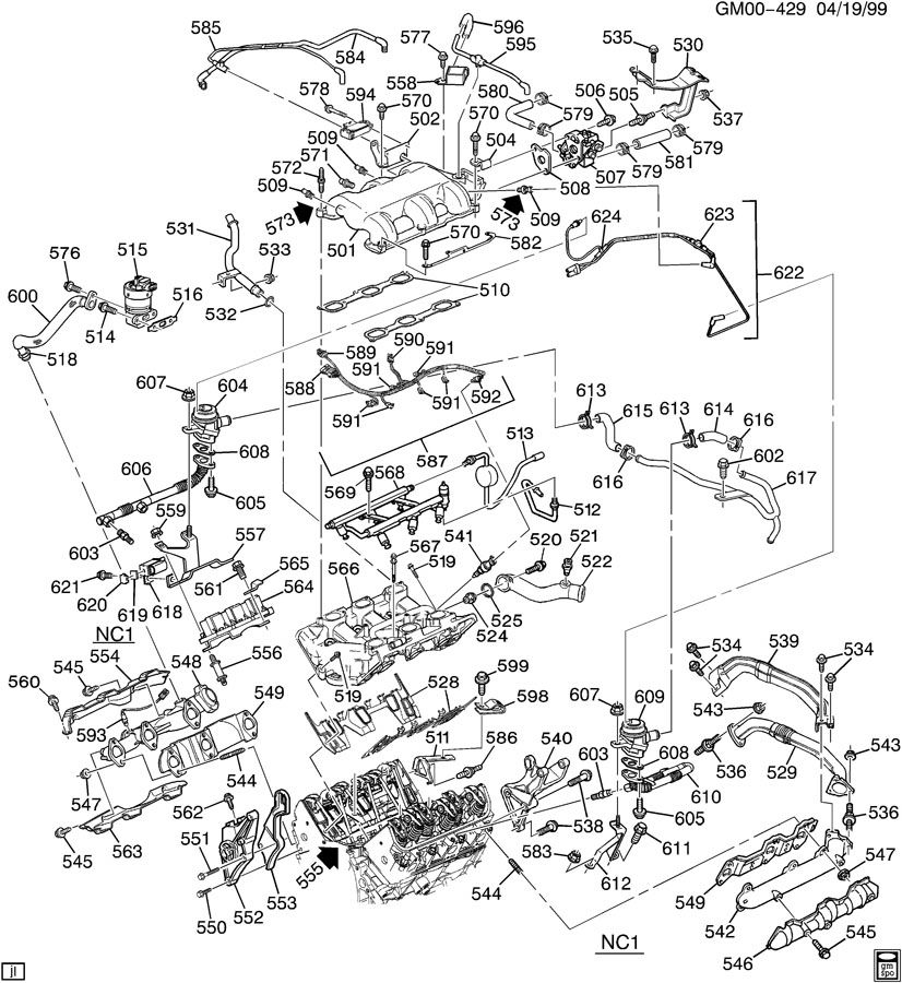 2001 chevy impala engine diagram | automotive parts ... 2001 chevy impala exhaust system diagram #2