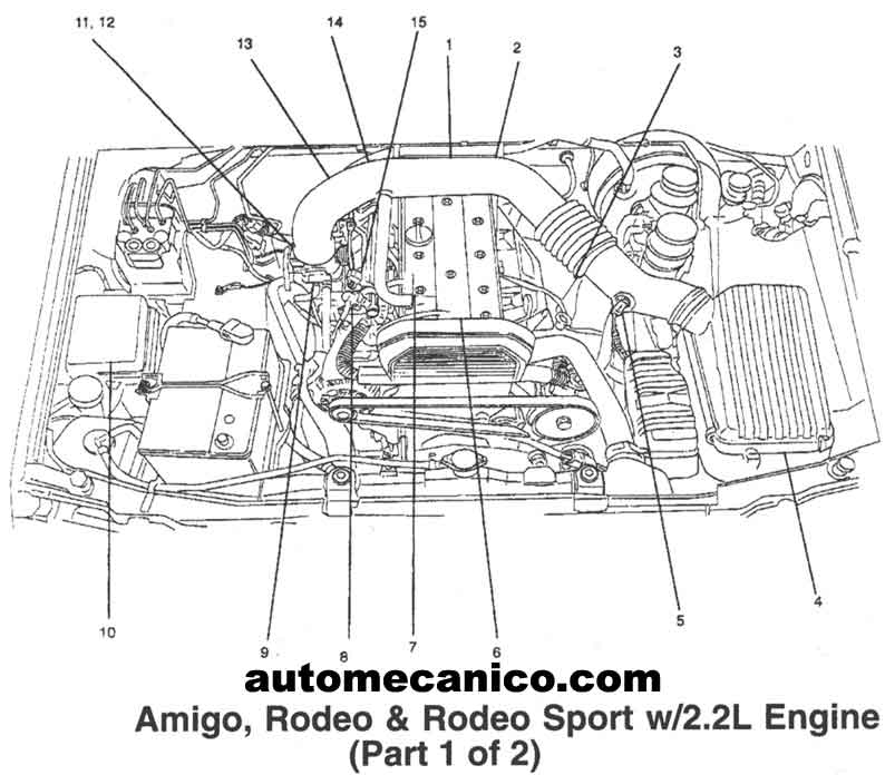 2002 Isuzu    Rodeo       Engine       Diagram      Automotive Parts    Diagram    Images