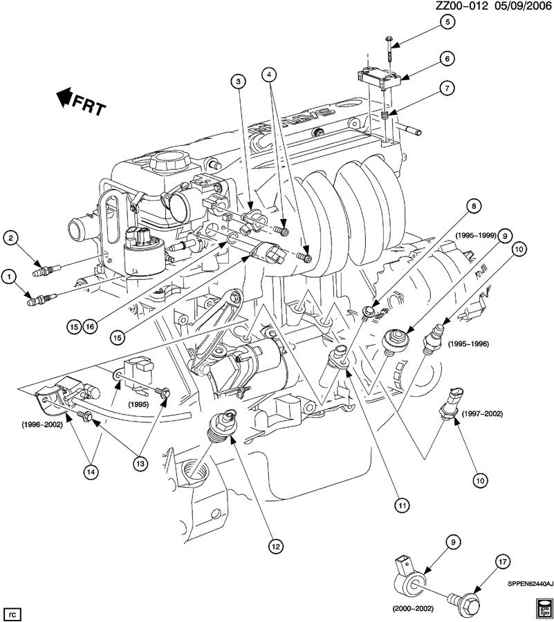 2001    Saturn    Sl1    Engine       Diagram      Automotive Parts    Diagram    Images
