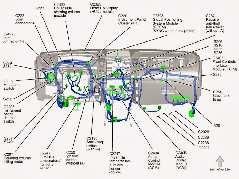 Wiring Diagram For 2014 Ford Taurus Sho W/sony Sound System inside 2010 Ford Fusion Engine Diagram