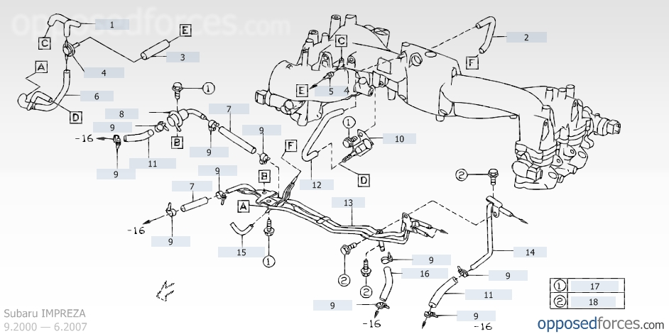 2002 Subaru Wrx Engine    Diagram      Automotive Parts    Diagram