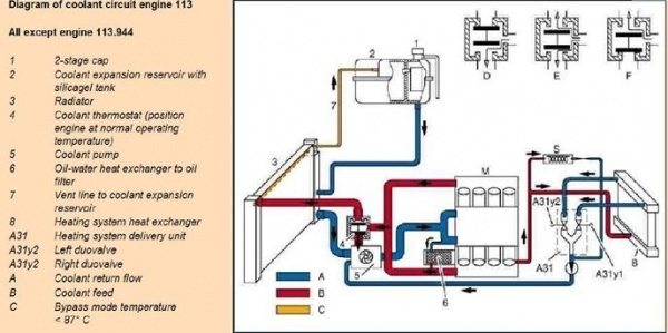 Wis 20.00 General - W220 S-Class Encyclopedia for Diagram Of Cooling System For Engine