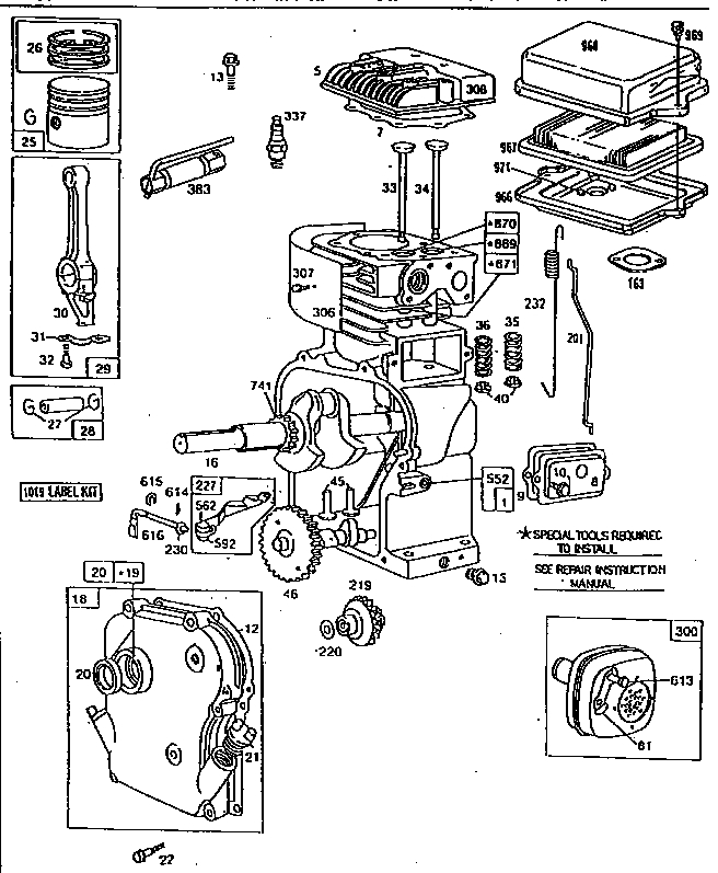 Parts Diagram For Briggs & Stratton Engine | Automotive ...