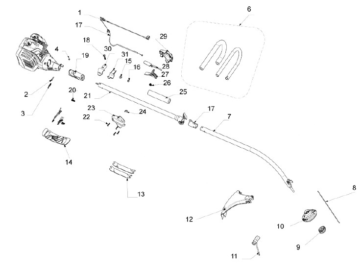 Jcb Lt26 (2010 - 2012) Spares intended for Stihl Fs 45 Trimmer Parts Diagram