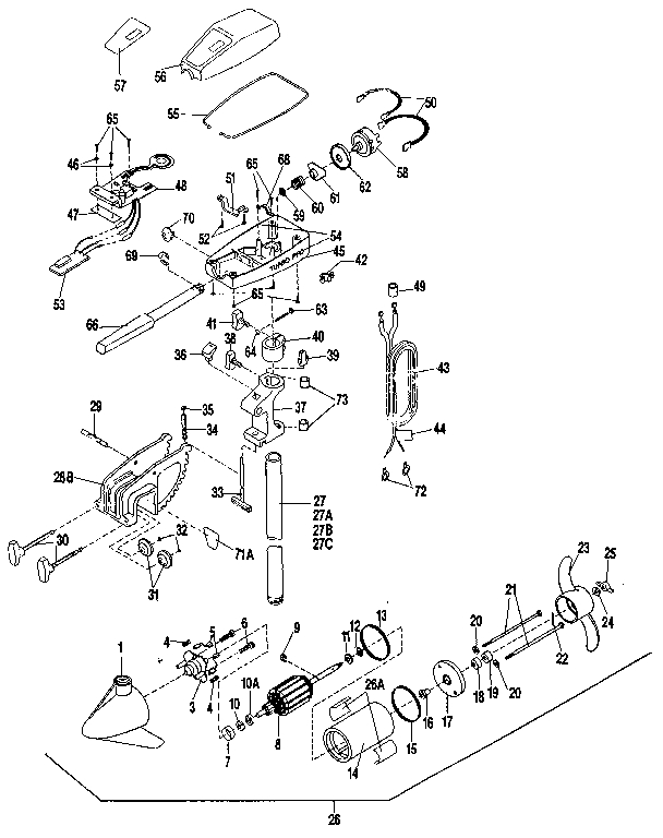 Minn Kota 65 Wiring Diagram regarding Minn Kota Trolling Motor Parts Diagram