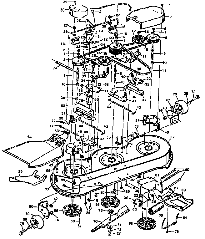 Murray Mower Deck Parts | Model 403334A | Sears Partsdirect with Murray Lawn Mower Deck Parts Diagram