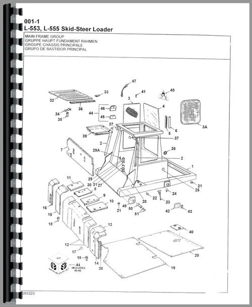 New Holland L553 Skid Steer Parts Manual within New Holland Skid Steer Parts Diagram