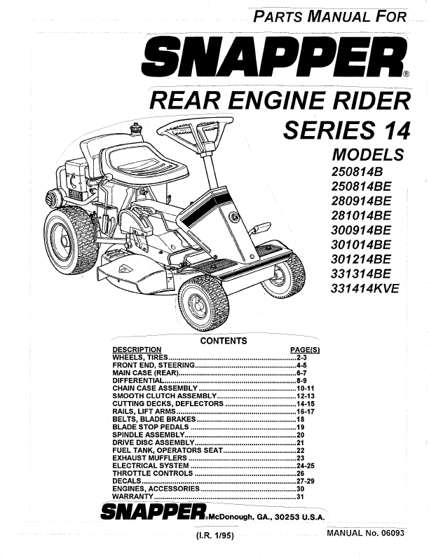 New Snapper Riding Mowers Manuals 27 For Your Mobile Phones User with Snapper Riding Lawn Mower Parts Diagram