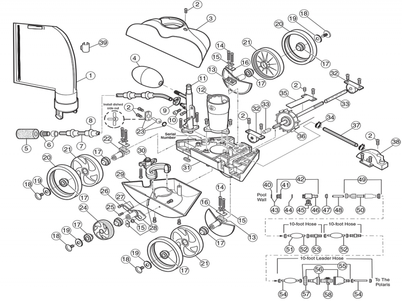 Polaris 280 Cleaner Parts - Pool Supplies Canada - Basic Car Part with Polaris 280 Pool Cleaner Parts Diagram