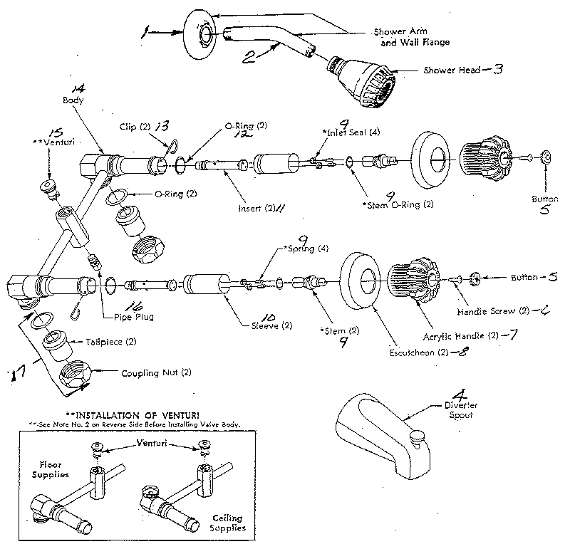 Shower Faucet Repair Can Be More Complex Than Expected | Wayne's regarding Parts Of A Shower Faucet Diagram