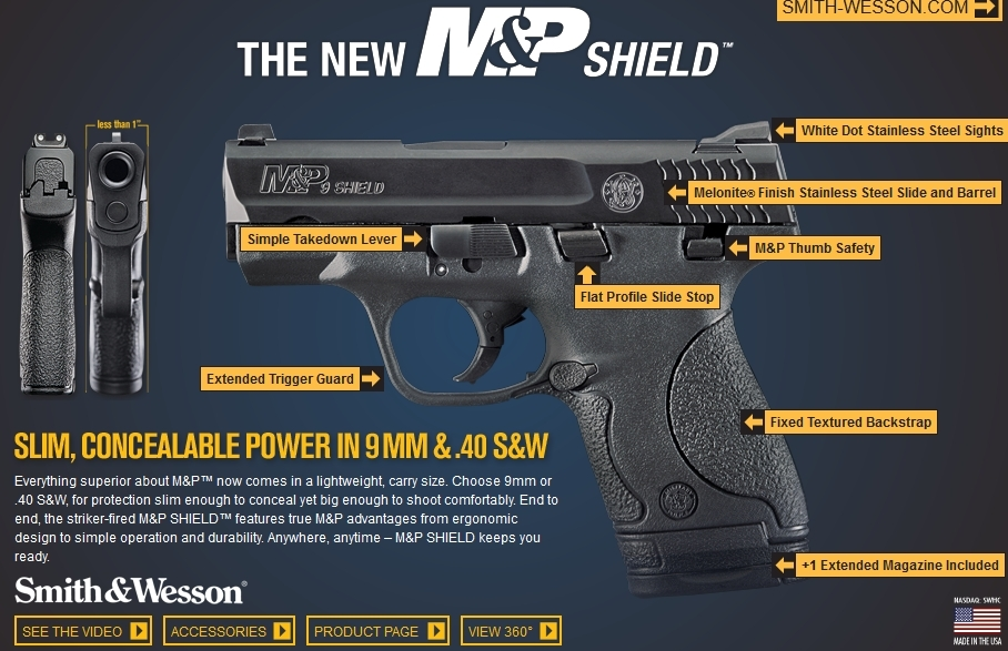 Smith & Wesson's New M Shield™ Is A Slim, Concealable, Lightweight pertaining to Smith And Wesson M&p Parts Diagram