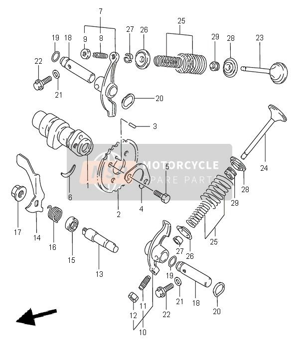 Suzuki Lt-F300F Kingquad 4X4 2000 Spare Parts - Msp in Suzuki King Quad 300 Parts Diagram