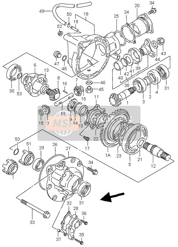 Suzuki Lt-F300F Kingquad 4X4 2001 Spare Parts - Msp for Suzuki King Quad 300 Parts Diagram