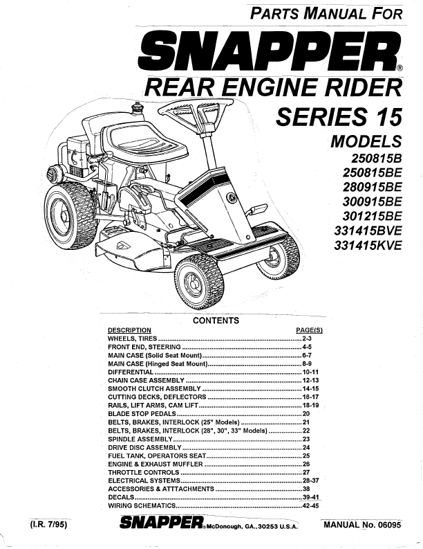 Unique Snapper Rear Engine Rider Parts Manual 58 On Espresso with Snapper Riding Lawn Mower Parts Diagram