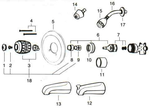 Valley Back To Back Tub/shower Replacement Parts within Parts Of A Shower Faucet Diagram