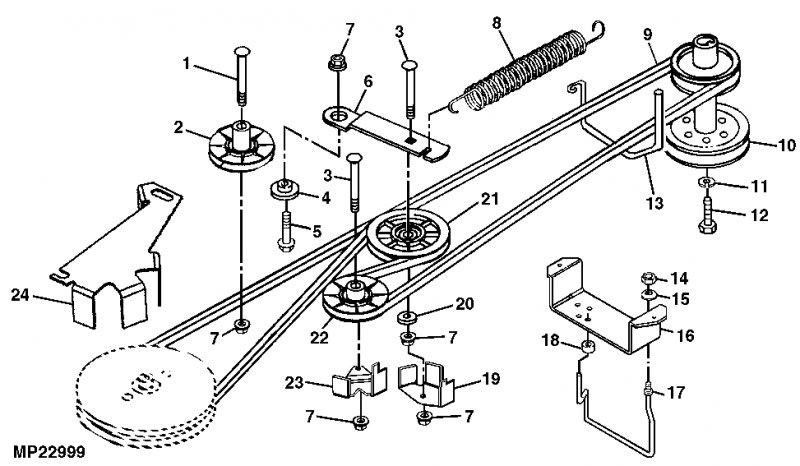 Wiring Diagram : Drive Belt Replacement Scotts 2046H Jd2046H throughout Murray Lawn Mower Deck Parts Diagram