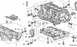 11200-Rna-A02 – Genuine Honda Pan Assy., Oil with 2006 Honda Civic Engine Diagram