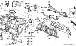 16450-Pld-003 – Genuine Honda Injector Assy., Fuel (Keihin) for 2001 Honda Civic Engine Diagram