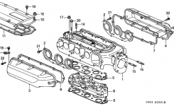 17146-P8E-A21 – Genuine Honda Gasket, In. Manifold (Upper) with 2002 Honda Odyssey Parts Diagram